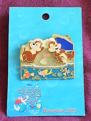 Disney Cruise Line CHIP and DALE PIN TRADING UNDER THE SEA LE 750 Pin - Pins
