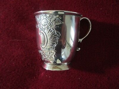 1895 Silver Christening Cup