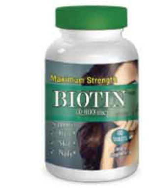 Biotin 10,000 mcg Maximum Strength Supports Hair Growth, Glowing Skin & Nails 60
