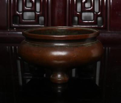 Old Chinese Bronze Incense Burner Chen Qiaosheng MK
