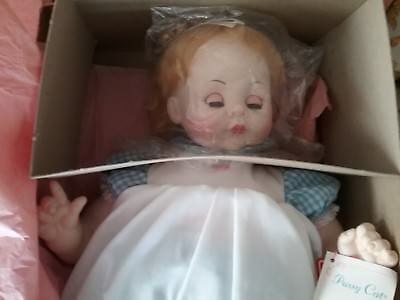 "MADAME ALEXANDER DOLL PUSSYCAT Large 23"" Vintage 1965 W- Box New W-Crier"