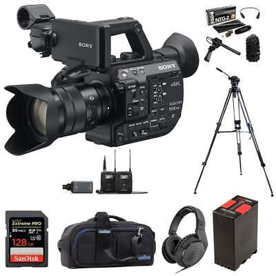 Sony PXW-FS5M2K Super 35 Handheld Camcorder with 18-105mm E-Mount Lens package e