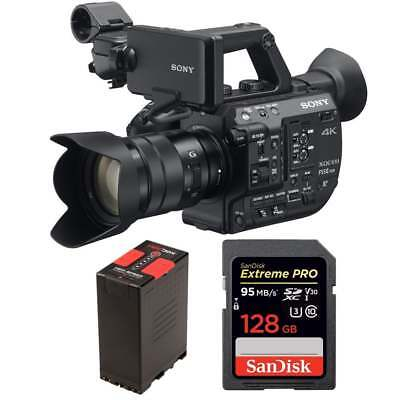 Sony PXW-FS5M2K Super 35 Handheld Camcorder with 18-105mm E-Mount Lens package a