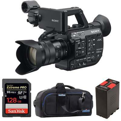 Sony PXW-FS5M2K Super 35 Handheld Camcorder with 18-105mm E-Mount Lens package b