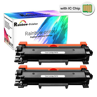 2PK TN760 with IC Chip for Brother TN730 DCP-L2550DW MFC-L2710DW L2730DW Toner