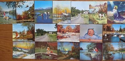 17 Vintage Morco Plax Prints Sample Advertising Calendars
