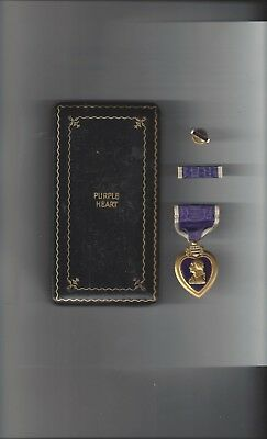 WWII Purple Heart Medal Original Issue Titled Case Complete Uncirculated