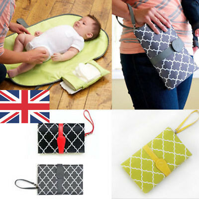 Portable Foldable Baby Napkin Diaper Changing Pad Waterproof Mat Travel Cover UK