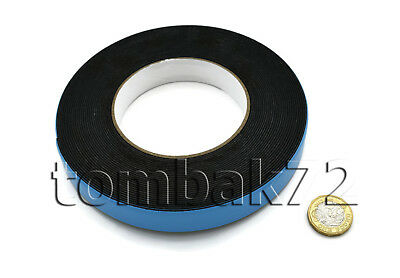 Double Sided Sticky Adhesive Black FOAM TAPE Water Resistant Outdoor Mounting