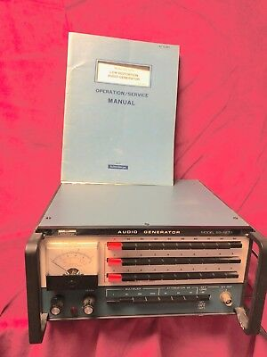 Heathkit Heath Audio Generator Sg-1272 + Operation Manual -See Demo