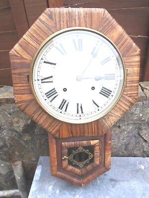 Antique Ansonia (New York)  Wall Clock Veneered In Zebra Wood