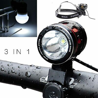 Ultra Bright Road Bike T6 USB Rechargeable Front Light Bicycle Cycling Hea dLamp