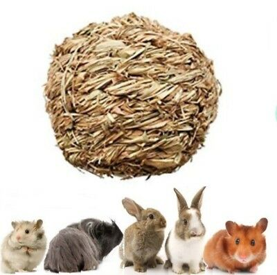 Rustic 100% Natural Grassy Hay Play Chew Ball Toy + Bell Rabbit Guinea Pig