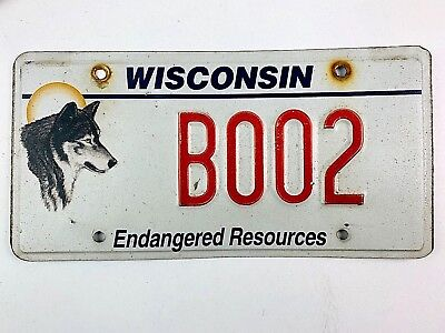 Wisconsin Wolf Old License Plate Garage Vanity Booze Vtg Car Man Cave Grahpic