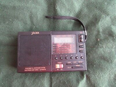 vintage Jager PL-440 Four Band radio with alarm AM FM SW LW working