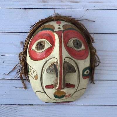 """Grouse Mask Pacific Northwest Native American Hand Painted Forest Spirit 8""""x6"""""""