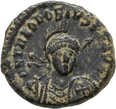 Lanz Roman Empire Theodosius Ii Follis Antioch Victory Throne Bronze §mbr2602