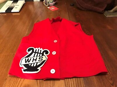 Vintage Child's 1940/50's Red Wool Felt Musical Vest