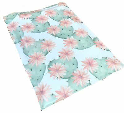 100 10x13 Flowering Cactus Designer Mailers Poly Shipping Envelope Boutique Bags