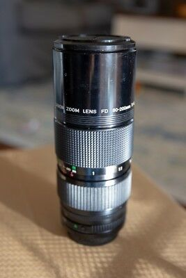 Canon FD 80-200mm f4 Two Touch Zoom Lens - Great Condition