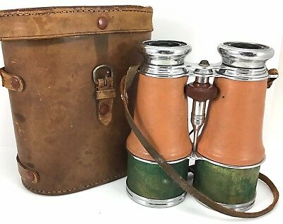 Vintage Air Corps Binoculars 6 X 50 In Original Case Military ? Made In Japan