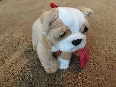 """New Our Generation Tan White Bulldog  Pup 6"""" use with vet set puppy dog"""