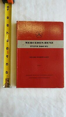 Mercedes-Benz Type 300 SL Spare Parts List Edition C