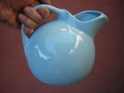 """coors 7"""" COORSITE BABY BLUE BALL-SHAPED ICE LIP PITCHER #937 icelip LARGE ROUND"""