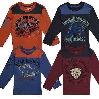 T Shirt Tee Boys Toddler Baby Kids Fashion Long Sleeve Graphic Tops Crew Neck