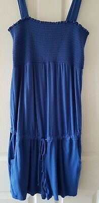 Mamalicious Maternity L Blue All In One Shorts Summer Playsuit Holidays Beach