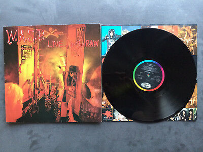 W.A.S.P. Live In The Raw LP