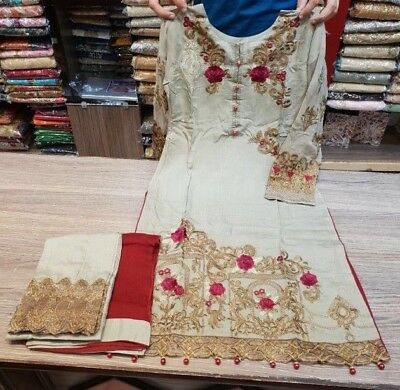 S//M//L Asian//Indian//Pakistani Designer Readymade Anarkali//Salwar Kameez Suit
