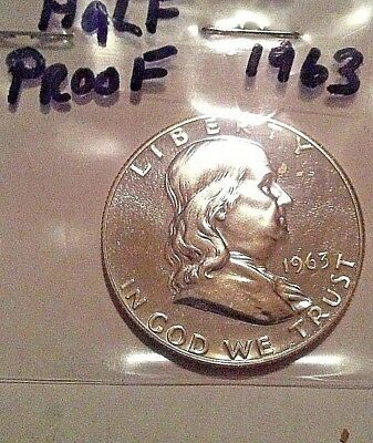 1963 Franklin Half Dollar Proof 90% silver nice mirror finish