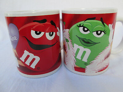 Valentine's Day RED & GREEN M&M's Coffee Mugs Cups
