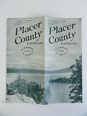 EARLY 1930s PLACER COUNTY CA Brochure MINING, STOCK, TIMBER, FRUIT, RESORTS Etc