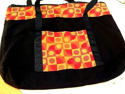 f5b8a2ab3 Handcrafted Carryall Bag Beach Office Kids Tote Outside Pocket Navy Blue