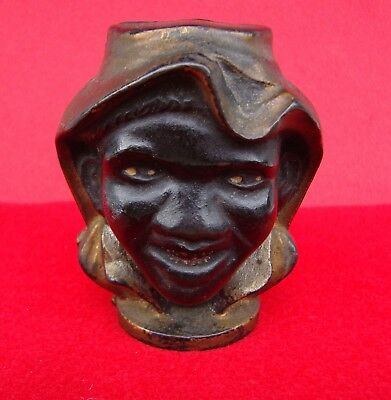 Originaltwo-Faced Black Boy Cast Iron Bank - Small Size