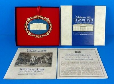 The White House Historical Association 2000 Christmas Ornament, Box, & Booklet