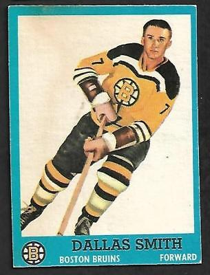1962-63 Topps Nhl Hockey #9 Dallas Smith, Boston Bruins