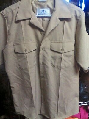 Us Navy Issued Quarterdeck Short Sleeve Button Up