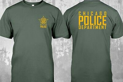 NEW Chicago Police Department Unit Duty Shirt Scurity TV Show T-shirt