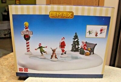 2016 lemax animated christmas village ice skating pond brand new never used - Animated Christmas Village