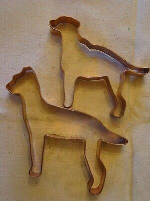 Martha Stewart By Mail Copper Cookie Cutter Dog Labrador Pitbull Boxer? X 2 Rare