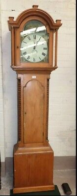 Welsh Long Case Clock Pine Construction Superbly Well Crafted & Painted Face !