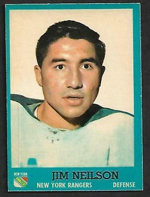 1962-63 Topps Nhl Hockey #49 Jim Neilson Rc, New York Rangers