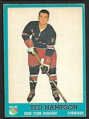 1962-63 Topps Nhl Hockey #55 Ted Hampson, New York Rangers