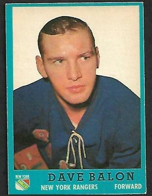 1962-63 Topps Nhl Hockey #56 Dave Balon Rc, New York Rangers
