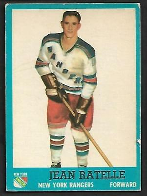 1962-63 Topps Nhl Hockey #58 Jean Ratelle, New York Rangers