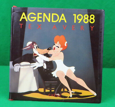 Tex Avery French Calender Agenda Book - Full great cartoon art  Droopy, The Girl