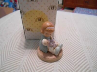 Memories of Yesterday Wrapped in Love and Happiness, Girl sitting doll Figurine